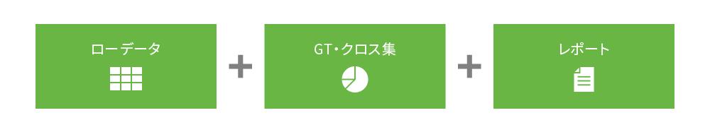 ローデータ+GTクロス+レポート